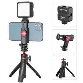 Vlog Kit 8 - Trípode + Soporte ST-06 + Luz Led VL49 - Phonestudio Chile - Tienda de Video y Fotografía Celular